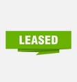 leased vector image vector image