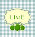 lime label vector image vector image