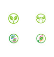 logos of green leaf ecology nature element vector image vector image