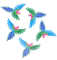 Macaw parrot flock pattern vector image vector image