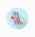 magic wand and birthday hat flat icon vector image