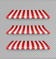 marketplace striped roawning set with shadows vector image