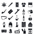 medical cannabis icon set simple style vector image