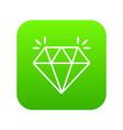 mine diamond icon green vector image vector image