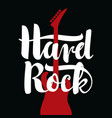 music banner with calligraphic lettering hard rock vector image vector image
