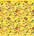 national hot dog day hot dog seamless vector image