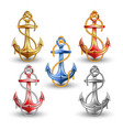 nautical anchors isolated on white background vector image