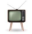 old fashioned retro tv vector image vector image