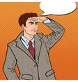 Pop Art Businessman Looking for Success vector image