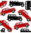 red and black car vector image vector image