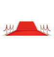 red carpet golden barriers exclusive event vector image