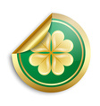 Saint Patricks Day Irish sticker vector image vector image