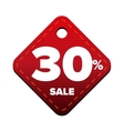 Sale thirty percent pricetag red vector image vector image
