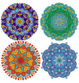 set of 4 mandalas vector image vector image