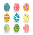 set of easter eggs funny vector image