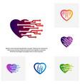 set of love tech creative logo concepts tech logo vector image vector image