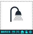 Shower icon flat vector image vector image