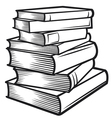 Stack of books vector | Price: 1 Credit (USD $1)