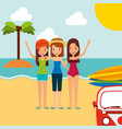 summer people vacations vector image
