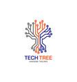 tech tree logo concept vector image