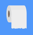 toilet paper roll flush icon paper vector image