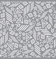 tribal abstract seamless repeat pattern vector image vector image