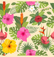tropical seamless pattern 3 vector image vector image