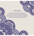 Violet color background with round ornament vector image