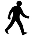 Walking Man Silhouette vector image vector image