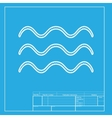 Waves sign White section of icon on vector image vector image