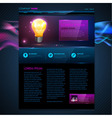 Web site template design Technology background vector image vector image