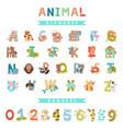 whole english alphabet with animals