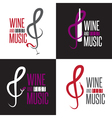 wine and music festival emblems set design vector image vector image