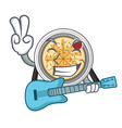 with guitar buchimgae isolated with in mascot vector image