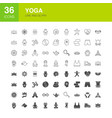 yoga line web glyph icons vector image vector image