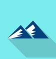 young mountain icon flat style vector image