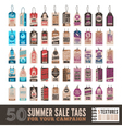 Summer sale tags vector image