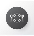 plate icon symbol premium quality isolated vector image