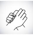hands language design vector image