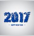2017 abstract numeric new year concept vector image