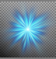 abtract blue energy with a burst background eps vector image vector image