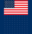 american flag with dark blue background vector image vector image