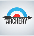 archery target and arrow logo isolated on white vector image vector image