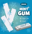 brand mint gum concept background realistic style vector image vector image