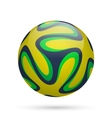 Brazilian soccer ball vector image