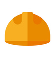 Builder helmet Flat isolated on white Safety hat vector image vector image