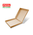 cardboard 3d box for pizza vector image vector image