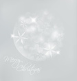 Christmas card with snowflakes and lights vector image vector image