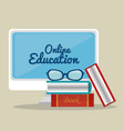 computer with education online service vector image