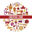 creative zone painting art hoband craft vector image vector image